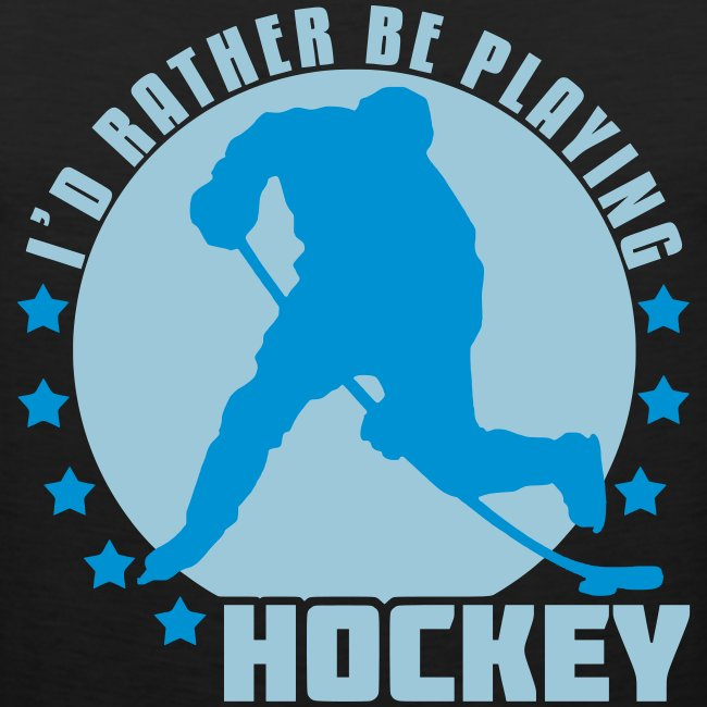 I'd Rather Be Playing Hockey Men's Vest Top