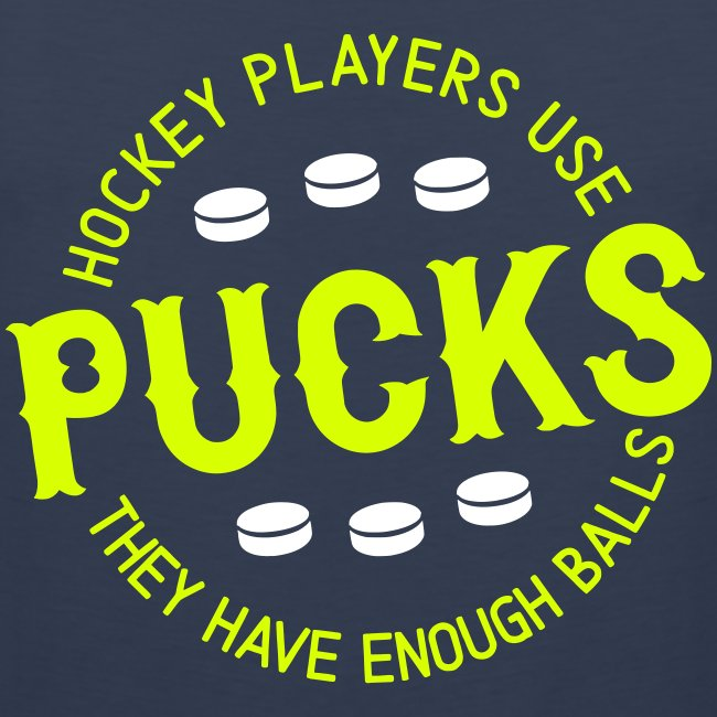 Hockey Players Use Pucks Men's Vest Top