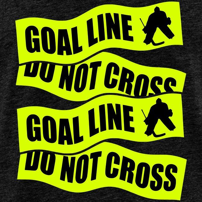 Goal Line Do Not Cross Men's Hockey Vest Top