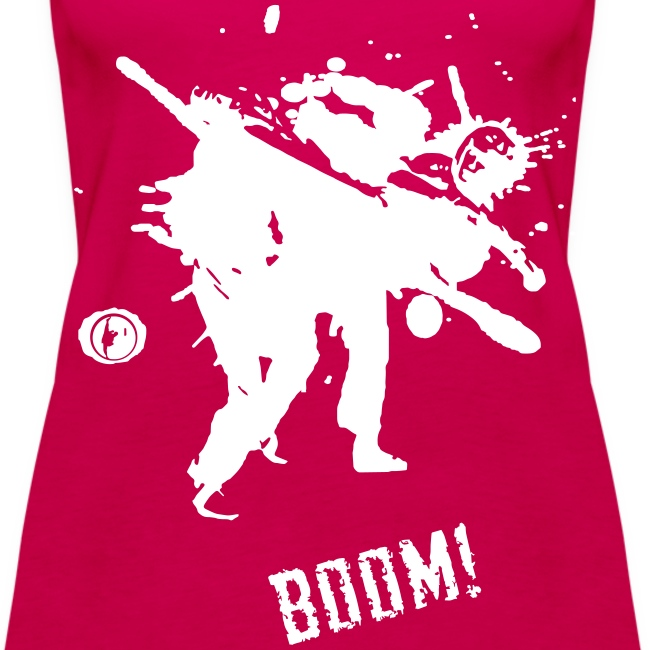 Ladies BOOM Vest (White Print)