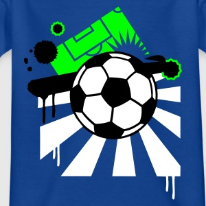 Royal blue Football field Kids' Shirts - Teenage T-shirt