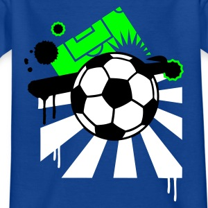 Bleu royal Football design T-shirts Enfants - T-shirt Ado