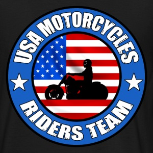 Noir Motorcycles Riders Team T-shirts - T-shirt Homme