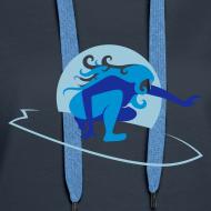 Motiv ~ Hoodie navy/blau