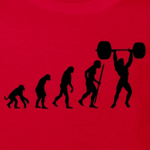 Red Evolution of pumping iron Kids' Shirts - Kids' Organic T-shirt