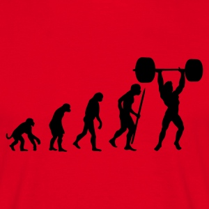 Red Evolution of pumping iron Men's T-Shirts - Men's T-Shirt