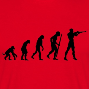 Red evolution of shooting Men's T-Shirts - Men's T-Shirt