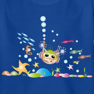 Royalblau Diving Kinder T-Shirts - Teenager T-Shirt