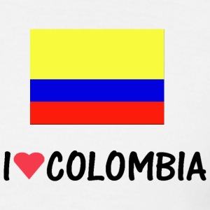 Wit i_love_colombia T-shirts - Mannen T-shirt