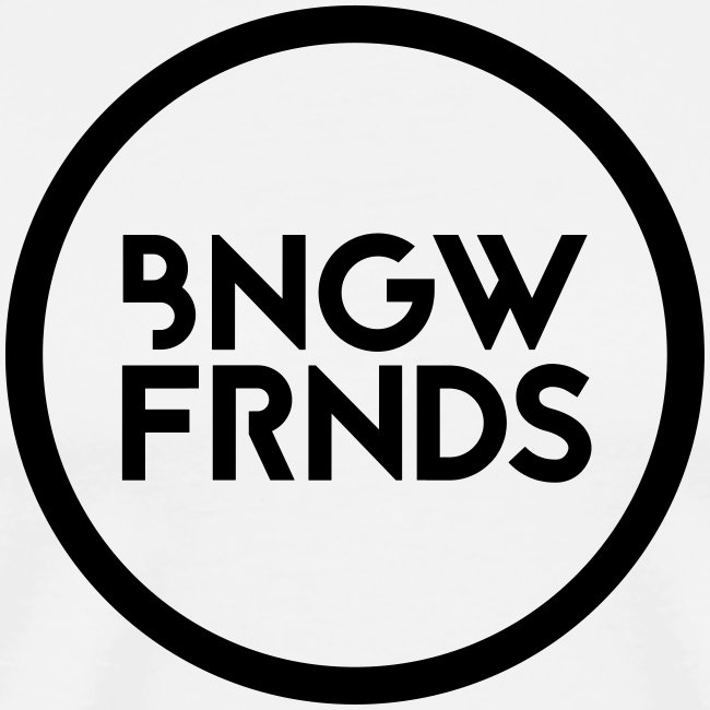 Männer Premiunshirt // BNGWFRNDS (Logo schwarz)