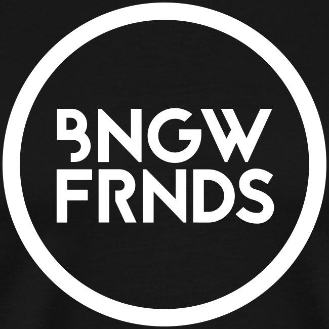 Männer Premiunshirt // BNGWFRNDS (Logo weiß)