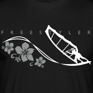 FREESTYLER 01  BLACK - Men's T-Shirt