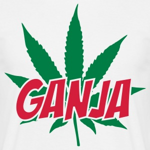 White Ganja Men's T-Shirts - Men's T-Shirt