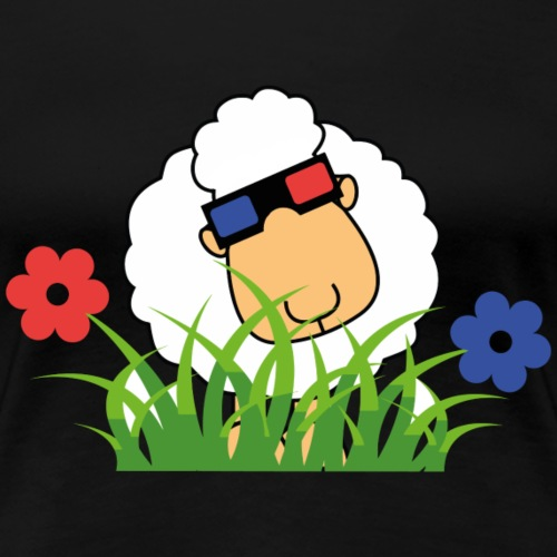 3D Schaf mit Gras