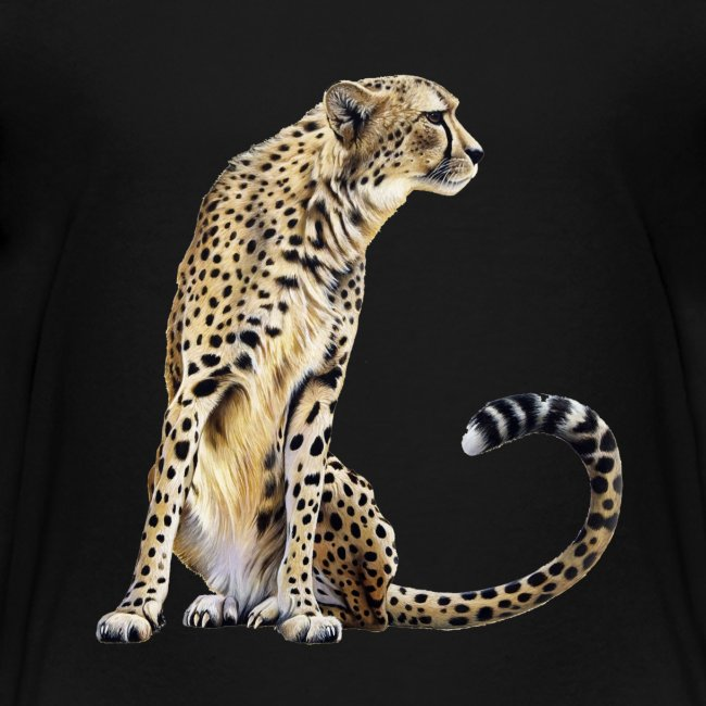 Cheetah teenager t-shirt
