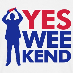 Wit Yes Wee-kend T-shirts - Mannen T-shirt