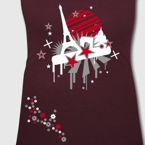 Dark red paris Women's T-Shirts - Women's Scoop Neck T-Shirt