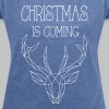 Deer Christmas - Women's T-shirt with rolled up sleeves