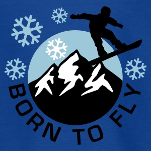 snowboard_mountains_e_3c T-shirts - Teenager-T-shirt