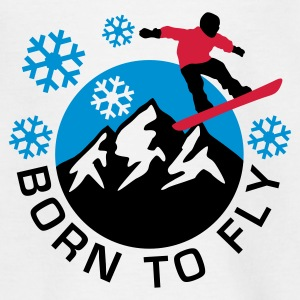 snowboard_mountains_d_3c Shirts - Teenage T-shirt