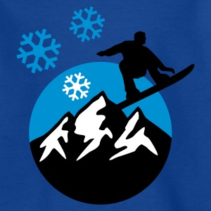 snowboard_mountains_c_3c Shirts - Teenage T-shirt