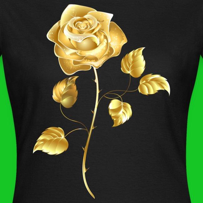 Gouden roos dames tt-shirt