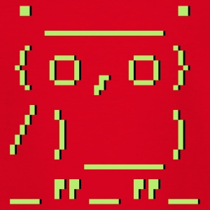 Rot ASCII-art: Eule Kinder T-Shirts - Teenager T-Shirt