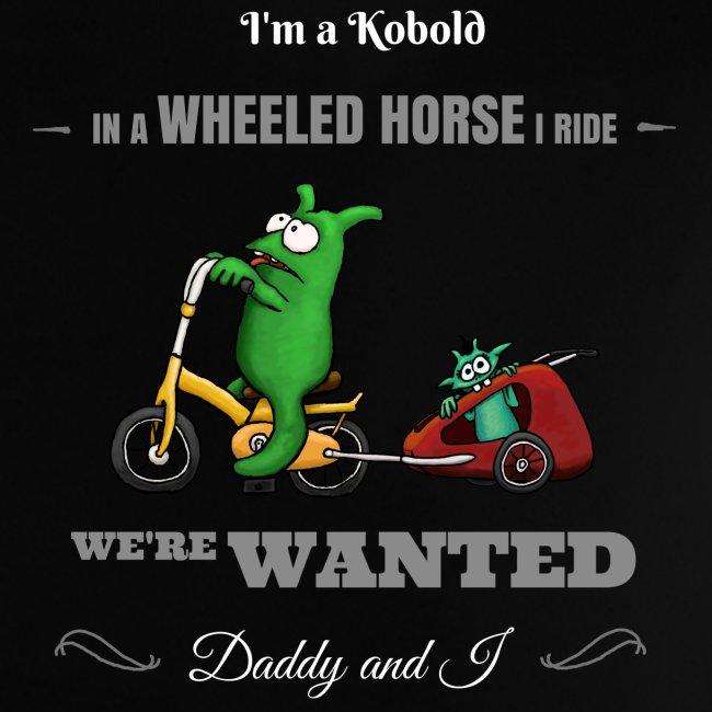 Kobold Wanted Rider Baby T-Shirt black