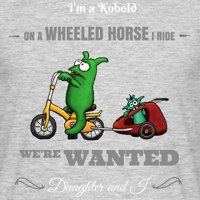 Kobold Wanted Rider Men T-Shirt black