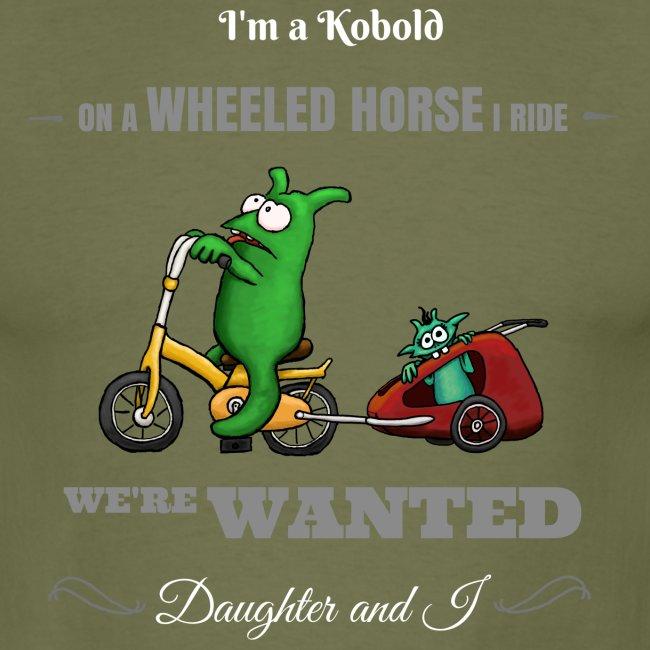 Kobold Wanted Rider Men T-Shirt black