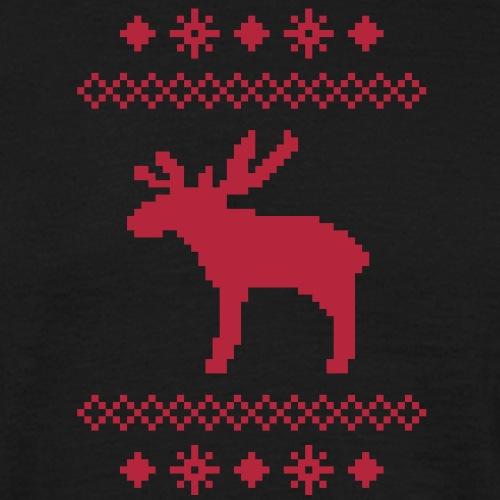 Elch Rentier Hirsch Weihnachten Norweger Strick Muster Rudolf Rudolph schnee
