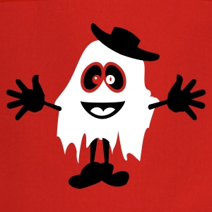 Red ghost with hat (2c)  Aprons - Cooking Apron