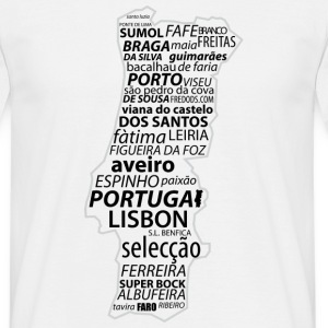 Blanc Portugal_Word T-shirts - T-shirt Homme