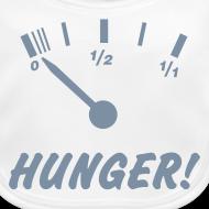 Motiv ~ Hunger (silber) - Baby Bio-Lätzchen