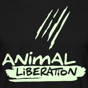 Mens Basic-Shirt 'Animal Liberation' - GLOW - Camiseta hombre