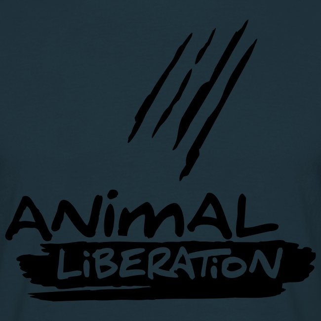 Mens Basic-Shirt 'Animal Liberation' BL