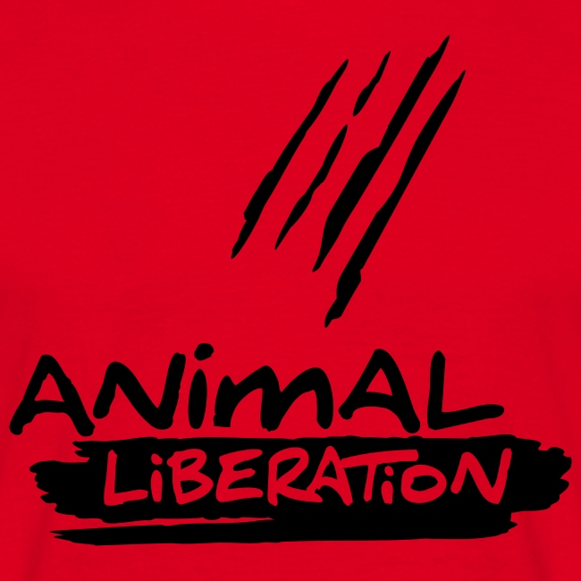 Mens Basic-Shirt 'Animal Liberation' BL