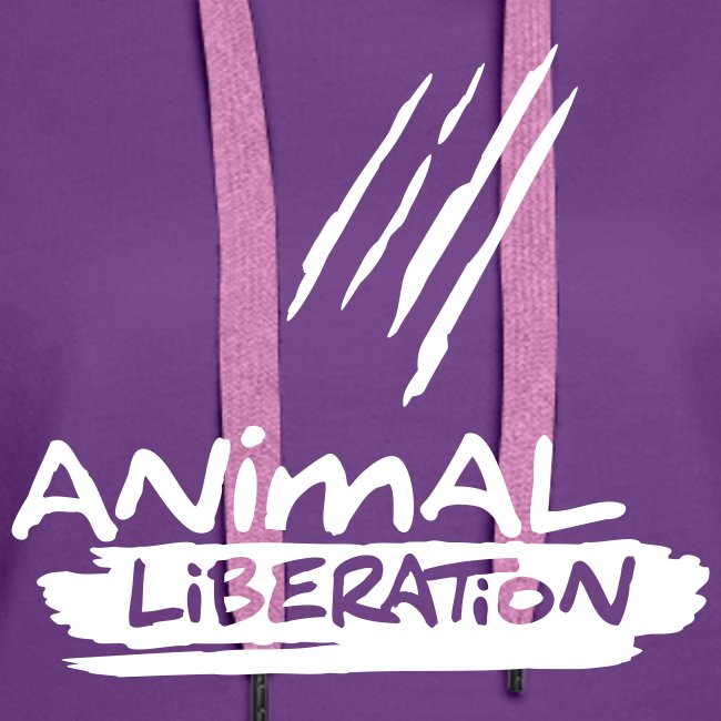 Womens Kapuzi 'Animal Liberation'