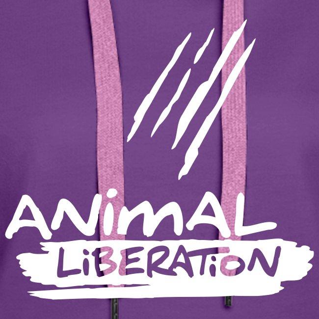 Womens Kapuzi 'Animal Liberation'