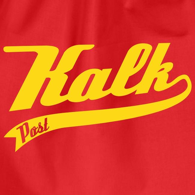 Roter Turnbeutel mit gelbem Direktdruck Classic
