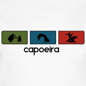 Weiß Capoeira Tricolor Black Outline T-Shirts - Frauen T-Shirt