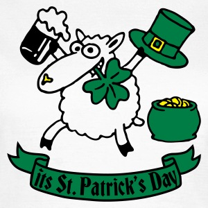 Weiß st_patricks_sheep_white_b T-Shirts - Frauen T-Shirt