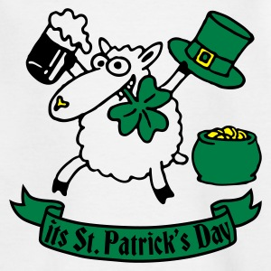 st_patricks_sheep_white_b Shirts - Teenage T-shirt