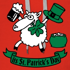 st_patricks_sheep_b Hoodies & Sweatshirts