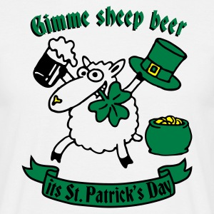 st_patricks_sheep_white T-shirts - Mannen T-shirt