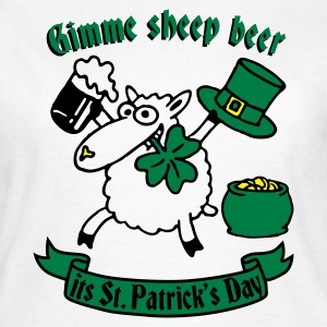 st_patricks_sheep_white Camisetas - Camiseta mujer