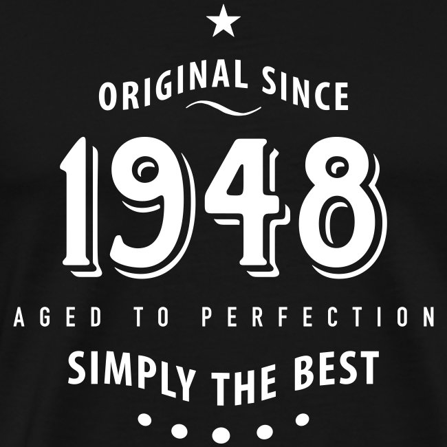 stofftaschen f r alle original since 1948 simply the best 70 geburtstag m nner premium t shirt. Black Bedroom Furniture Sets. Home Design Ideas