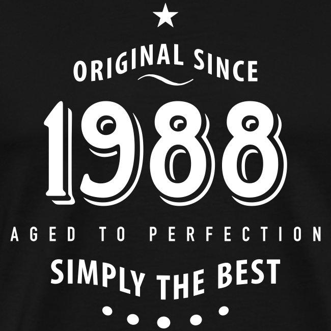 30 geburtstag t shirts online kaufen | original since 1988 simply the best 30  30 geburtstag