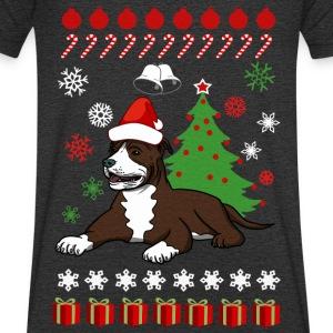 Kerst Pitbull Terrier dog