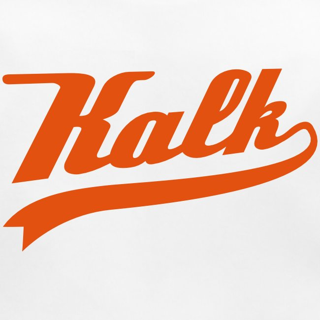 Lätzchen mit Kalk Classic in orangefarbenem samtigem Flockdruck